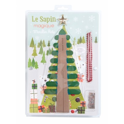 Moulin Roty Les Petites Merveilles Blossom-Your-Own Large Christmas Tree 25x10.5cm