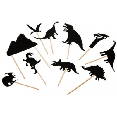 Moulin Roty Les Petites Merveilles Night-Time Shadows, Dinosaurs (10-Pack)
