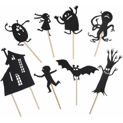 Moulin Roty Les Petites Merveilles Night-Time Shadows, Scary Glow-in-the-Dark (8-Pack)