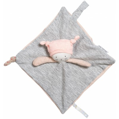 Moulin Roty Les Petits Dodos Cat Baby Comforter 24x24cm