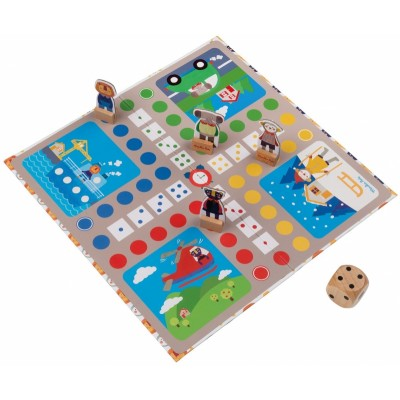 Moulin Roty Les Popipop Ludo Game 24.5x16cm