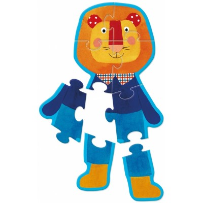 Moulin Roty Les Popipop Puzzle-Pop Characters 17x13cm