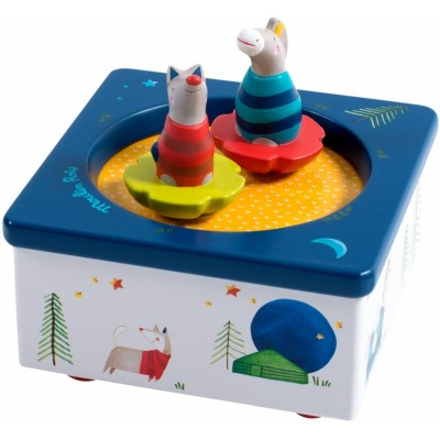 Moulin Roty Les Zig et Zag Musical Box 12x12cm