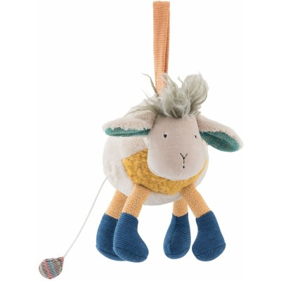 Moulin Roty Les Zig et Zag Musical Sheep Doll 20cm