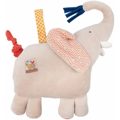 Moulin Roty Les Papoum Musical Pullstring Elephant 23cm