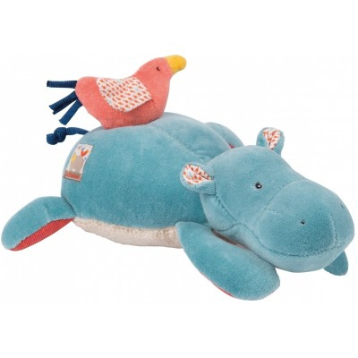 Moulin Roty Les Papoum Musical Pullstring Hippo 25cm