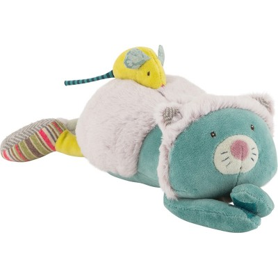 Moulin Roty Les Pachats Musical Chacha Doll & Mouse Laying 33cm