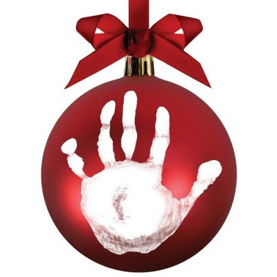Pearhead Babyprints ball ornament - Red