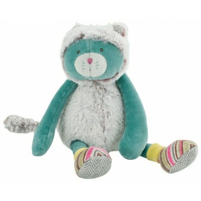 Moulin Roty Les Pachats Tiny Chacha Blue Cat Doll 23cm