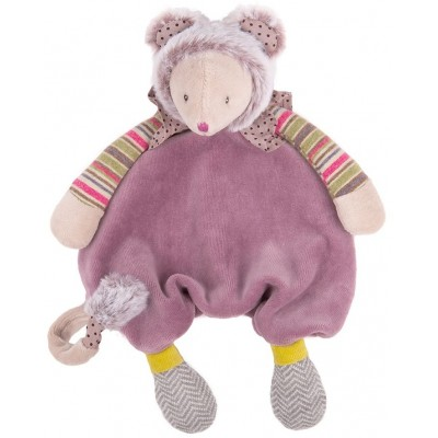 Moulin Roty Les Pachats Purple Mouse Lovey Comforter 28cm