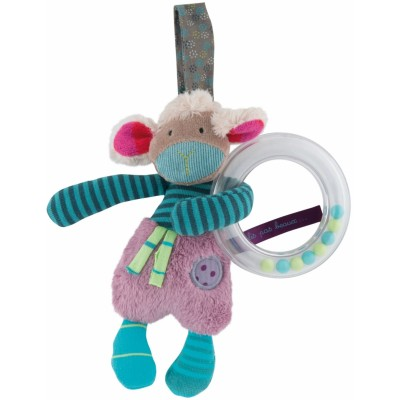 Moulin Roty Les Jolis Pas Beaux Sheep Hanging Ring Rattle 16cm