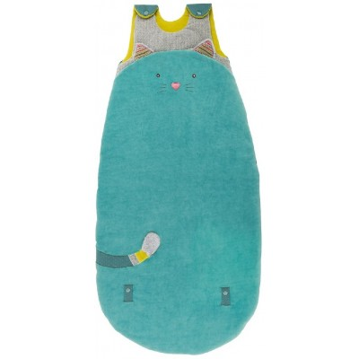 Moulin Roty Les Pachats Blue Cat Extendable Baby Sleeping Bag 90/110cm