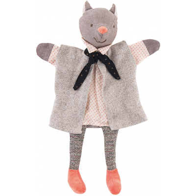 Moulin Roty Il Etait Une Fois Hand Puppet - The Gallant Cat 35cm