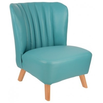 Turquoise Pleather Child Seat
