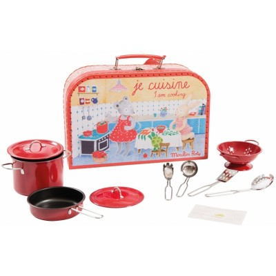 Moulin Roty La Grande Famille Valise Cooking Suitcase 29x19.5cm