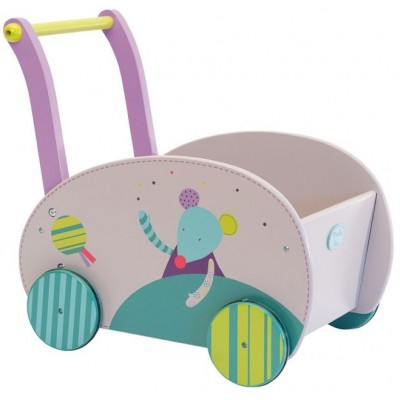 Moulin Roty Les Jolis Pas Beaux Wooden Walking Trolley 49x34.5x50cm