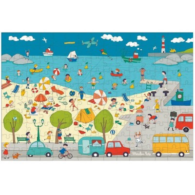 Moulin Roty Aujourd'hui c'est Mercredi At the Seaside Puzzle 150-Piece