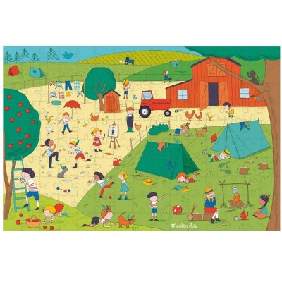 Moulin Roty Aujourd'hui c'est Mercredi In the Country Puzzle 150-Piece