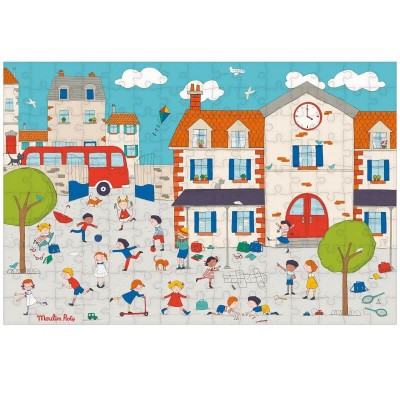 Moulin Roty Aujourd'hui c'est Mercredi Playtime Puzzle 150-Piece