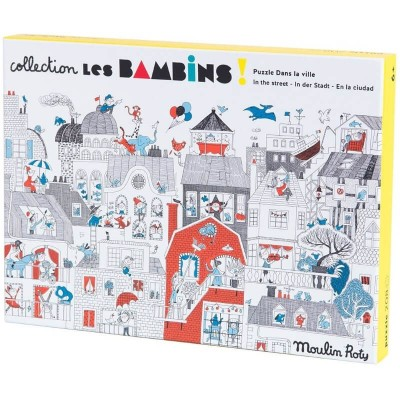 Moulin Roty Les Bambins In the City Puzzle 208-Piece