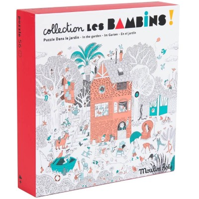 Moulin Roty Les Bambins In the Garden Puzzle 56-Piece