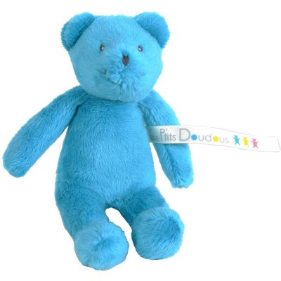 Moulin Roty Les P'tits Doudous Small Blue Bear 12cm (Childrens Charity)