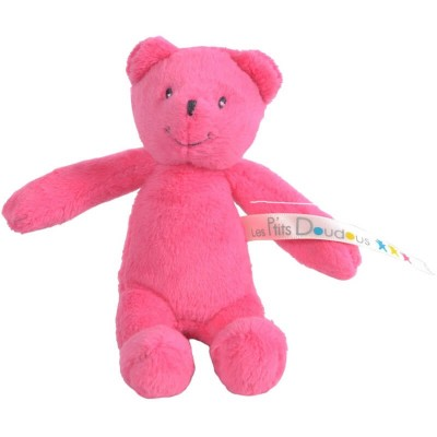 Moulin Roty Les P'tits Doudous Small Pink Bear 12cm (Childrens Charity)