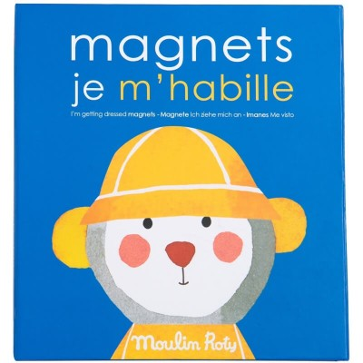 Moulin Roty Les Popipop I'm Getting Dressed Magnetic Game 18.5x20cm