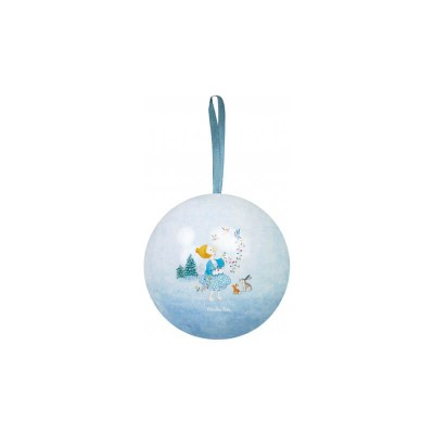 Moulin Roty La Grande Famille Metal Bauble - Blue 7cm