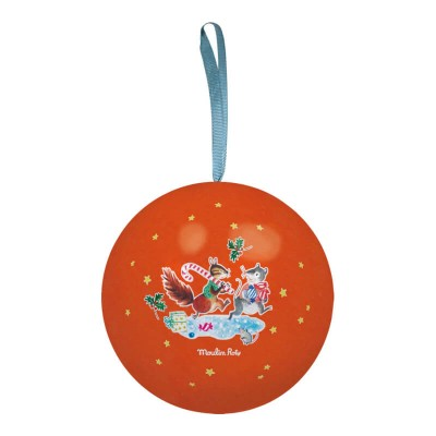 Moulin Roty La Grande Famille Metal Bauble - Red 7cm