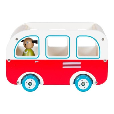 Moulin Roty La Grande Famille Wooden Bus with Dog 21cm