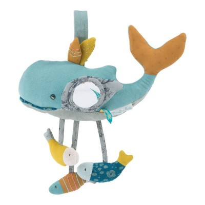 Moulin Roty Le Voyage d'Olga Josephine the Whale Activity Toy 27cm