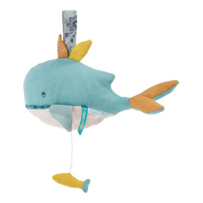 Moulin Roty Le Voyage d'Olga Josephine the Whale Musical Pullstring 25cm