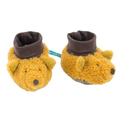 Moulin Roty Le Voyage d'Olga Chaussette the Fox Baby Slippers 0-6mos