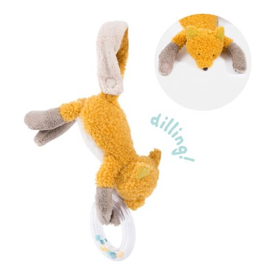 Moulin Roty Le Voyage d'Olga Chaussette the Fox Ring Rattle 24cm