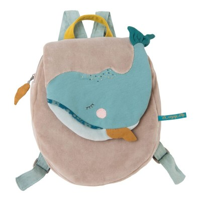 Moulin Roty Le Voyage d'Olga Josephine the Whale Backpack 23x29cm