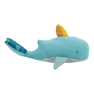 Moulin Roty Le Voyage d'Olga Josephine the Whale Rattle 18cm