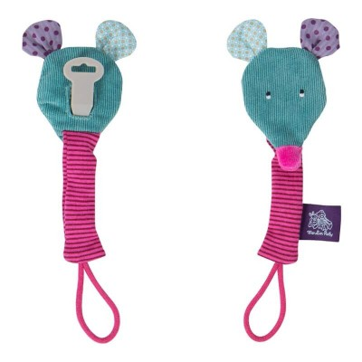 Moulin Roty Les Jolis Pas Beaux Mouse Soother Holder 21cm