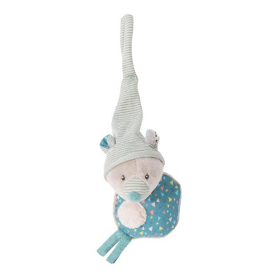 Moulin Roty Les Jolis Trop Beaux Bear Soother Holder 20cm
