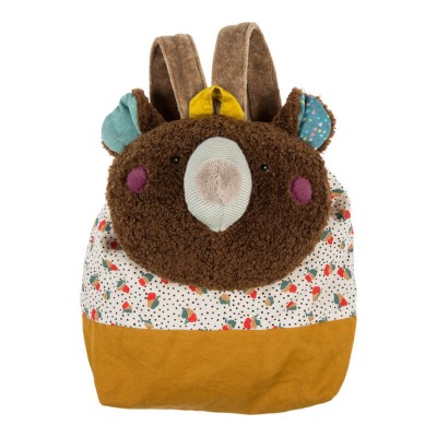 Moulin Roty Les Jolis Trop Beaux Brown Bear Backpack 25x30cm
