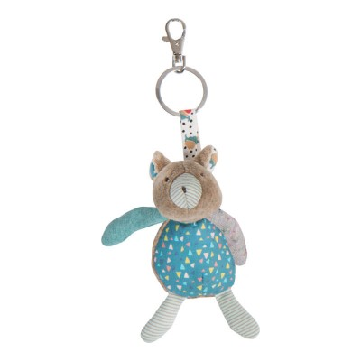 Moulin Roty Les Jolis Trop Beaux Brown Bear Key Ring 12cm