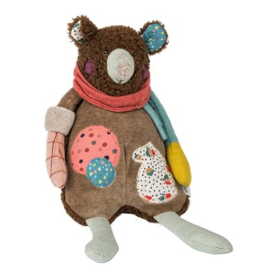 Moulin Roty Les Jolis Trop Beaux Brown Bear Musical Pullstring 30cm