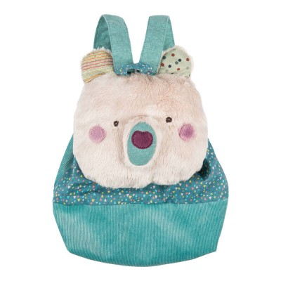 Moulin Roty Les Jolis Trop Beaux Cream Bear Backpack 25x30cm
