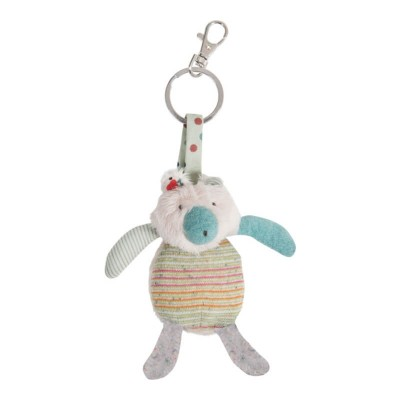 Moulin Roty Les Jolis Trop Beaux Cream Bear Key Ring 12cm