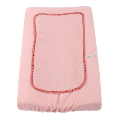 Moulin Roty Les Jolis Trop Beaux Pink Changing Mat Cover 45x70cm