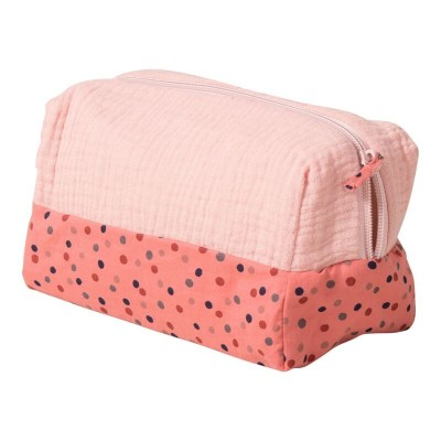 Moulin Roty Les Jolis Trop Beaux Pink Toiletry Bag 20x10x11cm