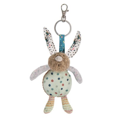 Moulin Roty Les Jolis Trop Beaux Rabbit Key Ring 12cm