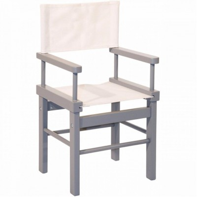 Moulin Roty Les Jouets d'Hier Child Director Chair - Grey 33x28x58cm