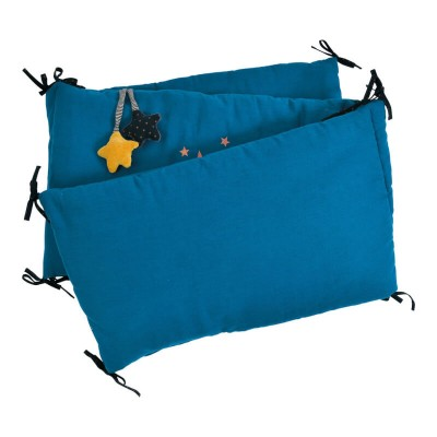 Moulin Roty Les Moustaches Blue Cot Bumper 180x33cm