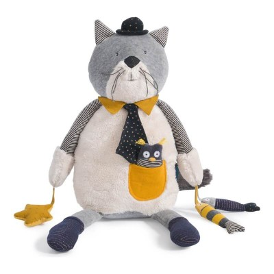 Moulin Roty Les Moustaches Fernand the Cat Activity Toy 48cm